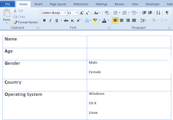 Make A Fillable Form In Word   Collect Data The Easy Way
