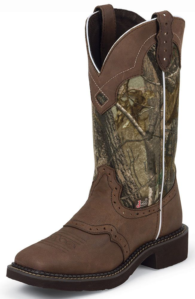Justin Gypsy Womens Square Toe Cowboy Boots - Camo/Brown ...