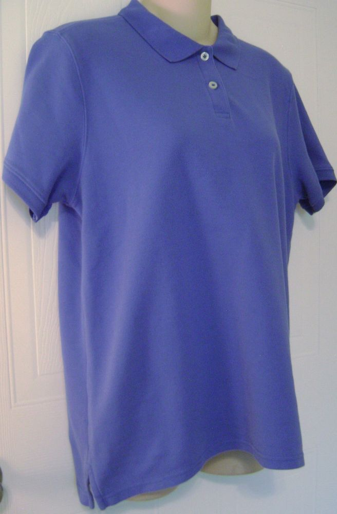 18c42abde432a LL Bean Women s Polo Shirt Small Short Sleeve Blue Premium Double L Relaxed  Fit  LLBean  PoloShirt  Casual