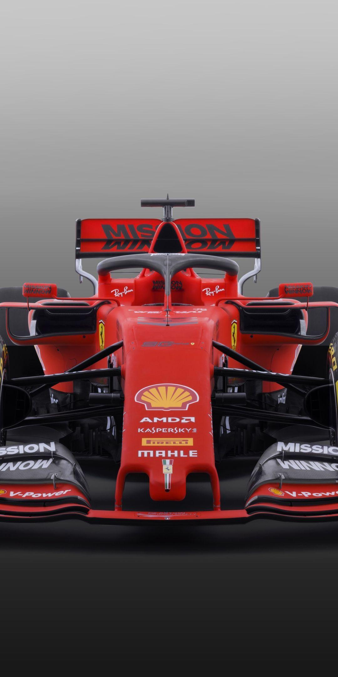 2020 Ferrari SF90 F1, formula one, car, 1080x2160