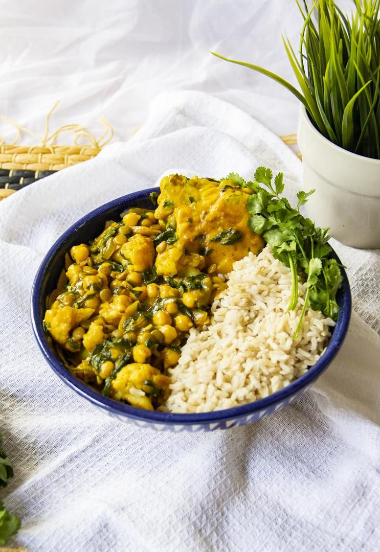 20 Minute Chickpea Spinach Coconut Curry With Chickpea Dumplings Vegan