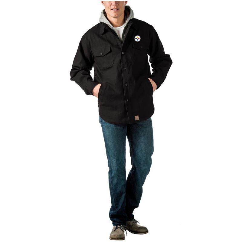 new product b8de4 acb0e Pittsburgh Steelers Dukane Tough Cotton Canvas Jacket ...