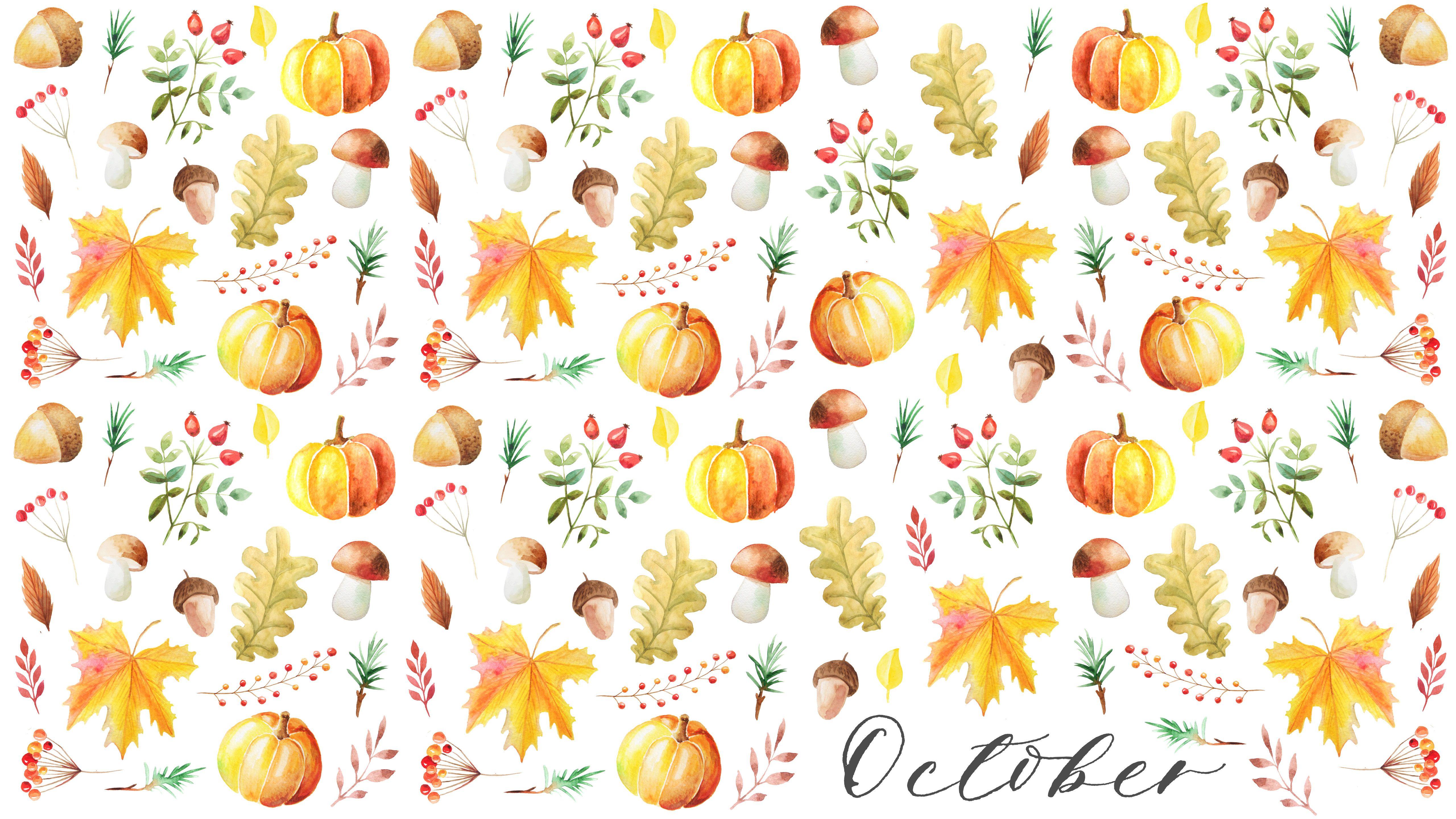 Autumn Watercolor Wallpaper Desktop Osbp Jpg 5 120 2 880 Pixels Fall Watercolor Watercolor Wallpaper Desktop Wallpaper