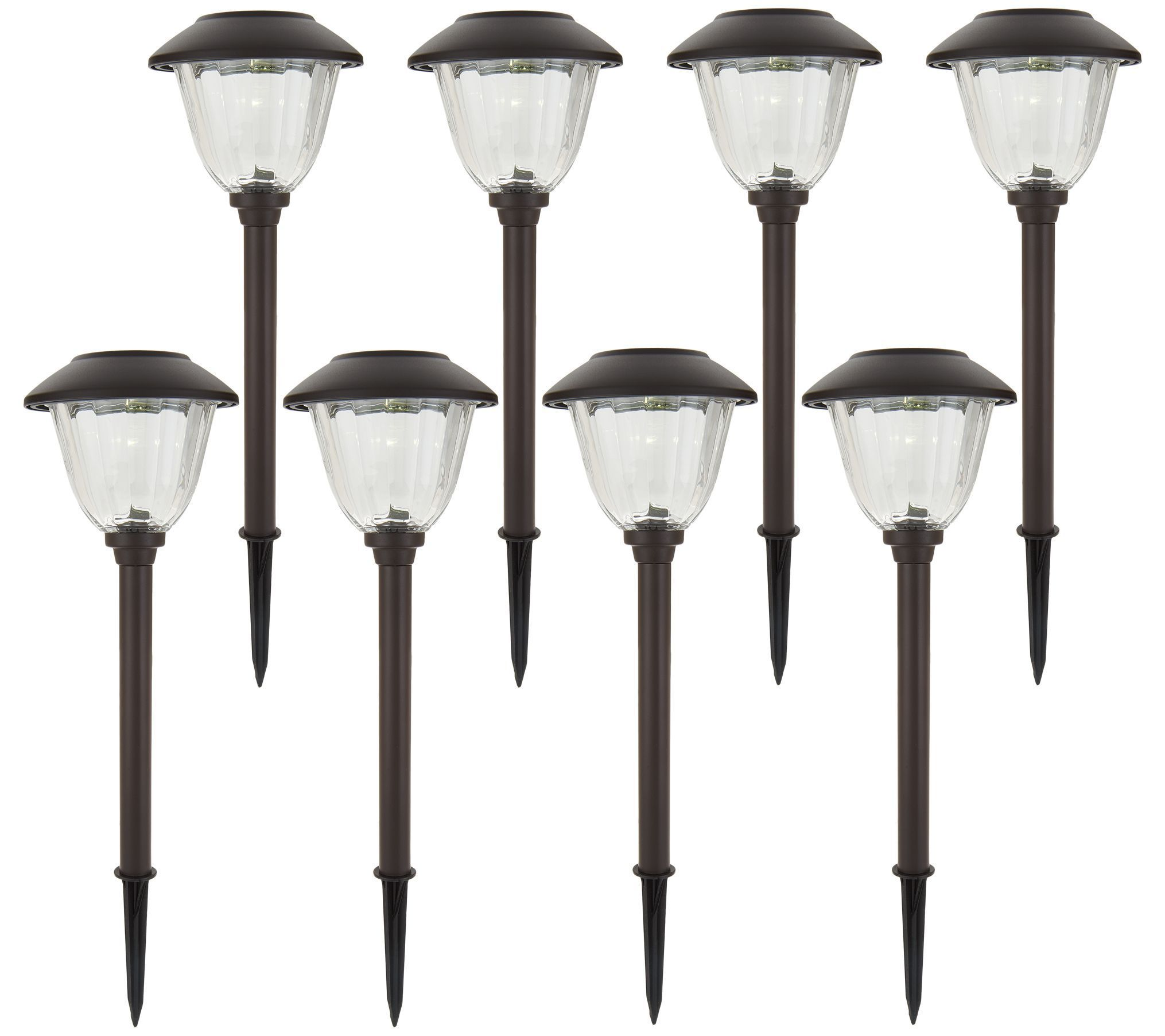 qvc outdoor lighting led outdoor energizer 8piece solar landscape light set page qvccom landscapegardeningawesome