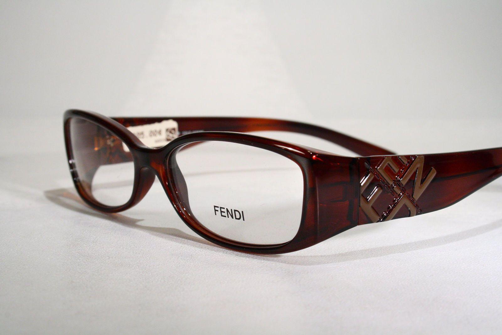 b7963f26a00 Women s FENDI Italy F737 Slim Translucent Brown Eyeglasses Glasses Frames +  Case   eBay (RipVanW)