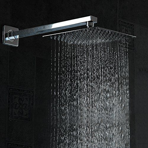Shower Head 12 Inch Square Cucoot Bathroom Stainless Steel Rain