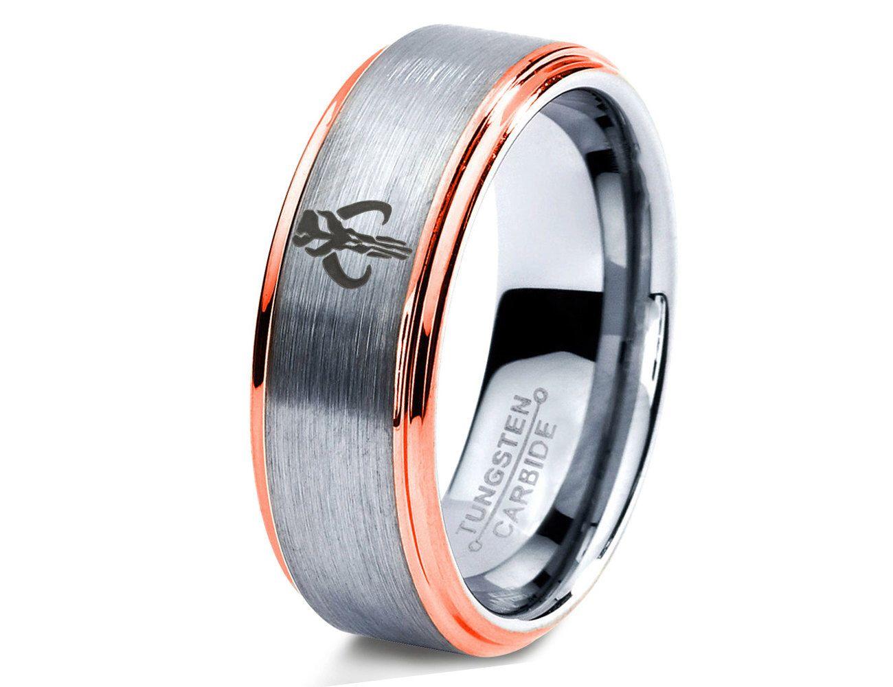 Star Wars Ring Boba Fett Mandalorian Mythosaur Skull Star Wars Mens Ring Fanatic Geek Sci Fi Boys Girls Womens Star Wars Ring Wedding Ring Bands Rings For Men