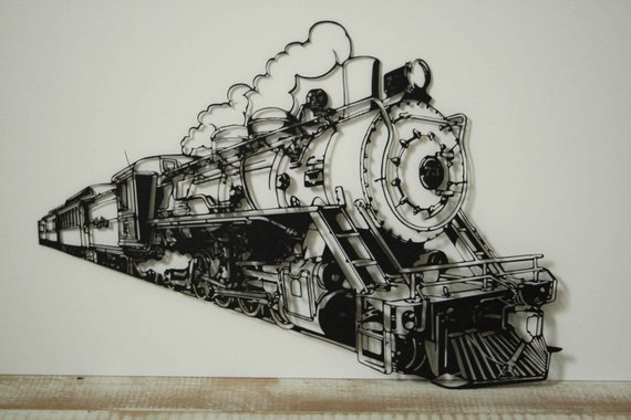 Large Metal Wall Art Train Metal Wall Decor And Sculptures
