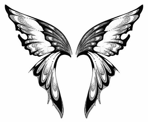 dce936614b44b Free Printable Fairy Stencils | Butterfly tattoo stencil 7 (click for full  size)
