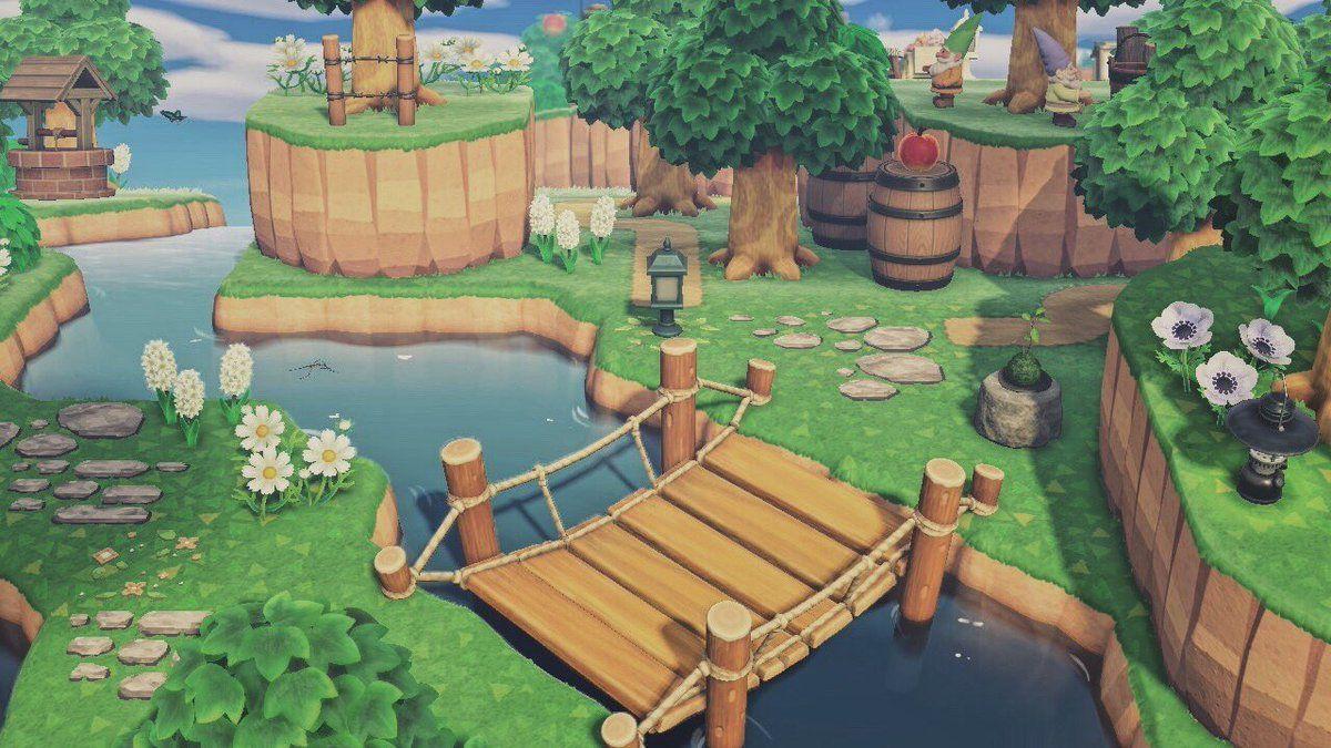 あつ森 斜め階段 【あつ森】景観を良くする滝のアイディア