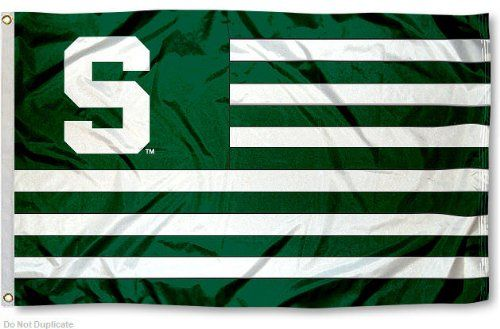 Michigan State Msu Spartans Alumni Nation Stripes Flag College Flags And Banners Co Http Ww Michigan State Spartans Michigan State Michigan State University
