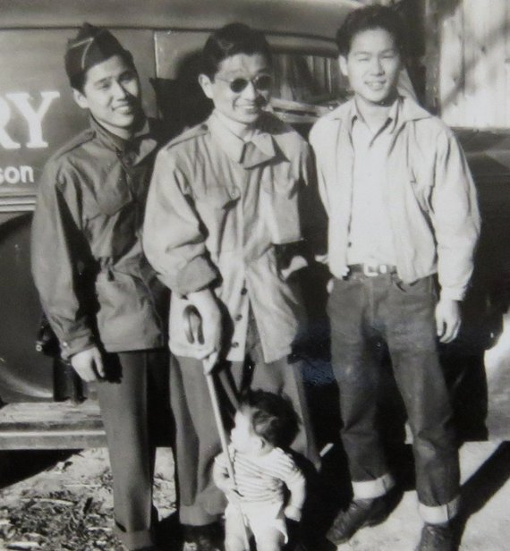 Vintage 1920 S Three Men And A Baby Chinese Laundry Service