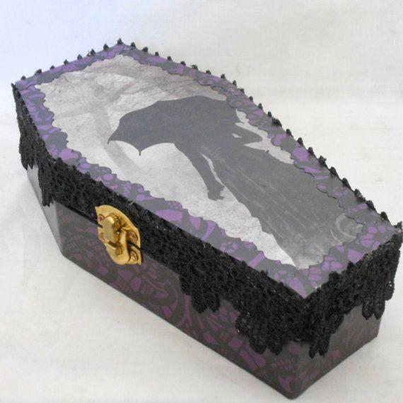 Victorian Gothic Coffin Box by NacreousAlchemy