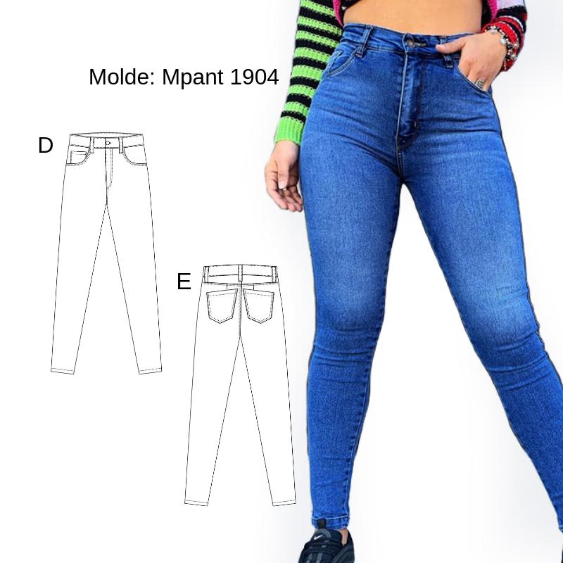 Creamos Un Nuevo Molde De Pantalon Jean Para Las Chicas Mas Ajustado Y De Tiro Alto Confeccion Pantalon Jean Mujer Pantalones Jean Moldes De Pantalones
