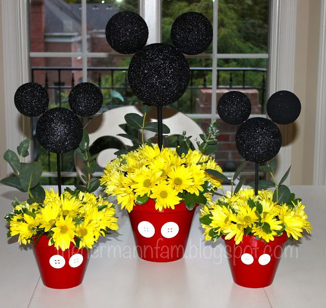 centerpieces mickey mouse party ideas mickey mouse centerpiece rh pinterest com