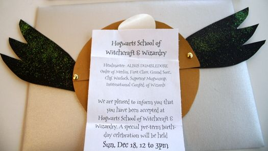 How To Make a Golden Snitch Invitation