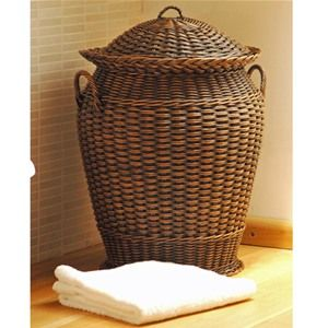 Natural Cane Dome Top Round Large Laundry Basket Bedroom