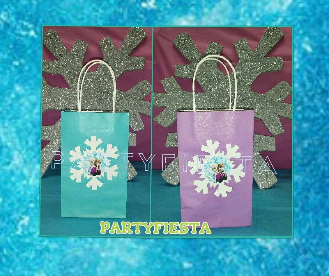 Design Frozen Decorations inspired frozen favor bag party birthday decorations go fiesta