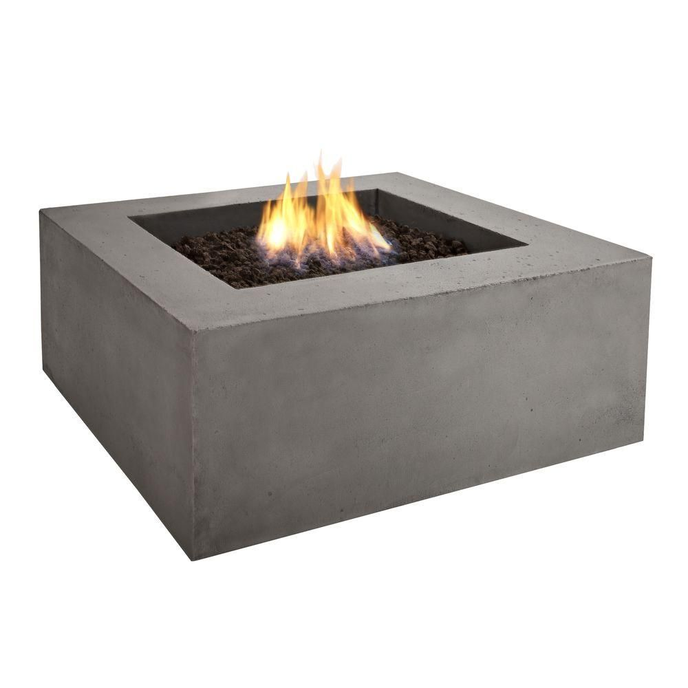 Real Flame Baltic 36 In Square Glacier Gray Propane Gas Fire Pit 9620lp Glg At The Home Depot Outdoor Fire Pit Fire Pit Table Natural Gas Fire Pit Fire Table
