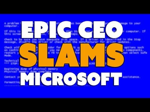 Epic CEO: Gaming with Windows 10 UWP