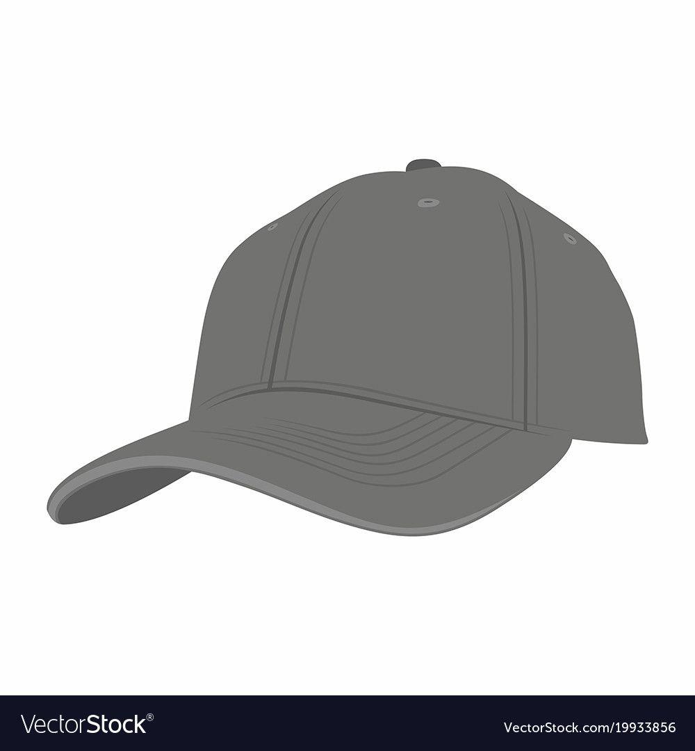Black Baseball Cap Royalty Free Vector Image Vectorstock Black Baseball Cap Baseball Cap Baseball