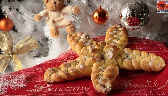 Pane A Forma Di Stella Di Natale.Stella Di Pane Intrecciata Pane Intrecciato