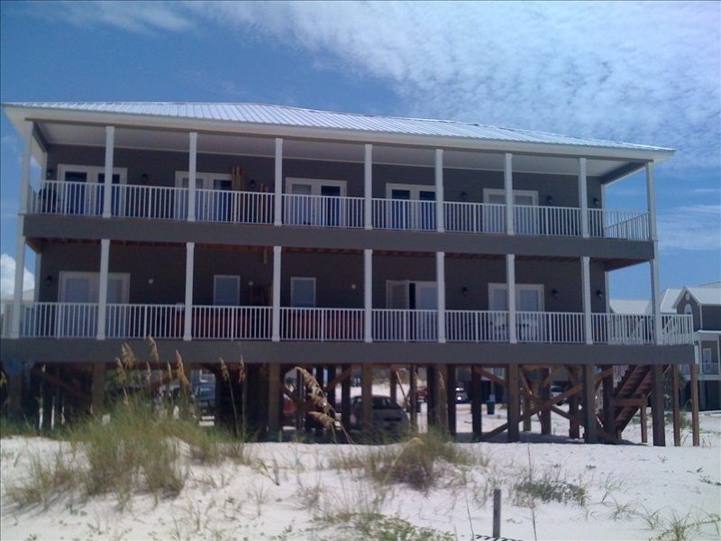 Hang 10 Beach House Pools Great Gulf Views 10 Bedroom Sleeps 28 Fort Morgan Beach Houses For Rent Pool Houses Beach House Rental