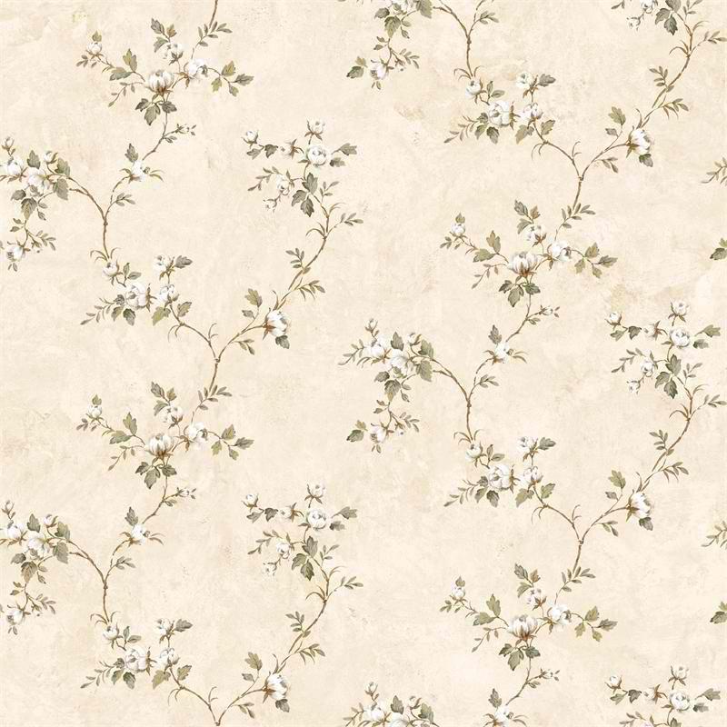 Cream Country Rose Vine Wallpaper Rustic Primitive