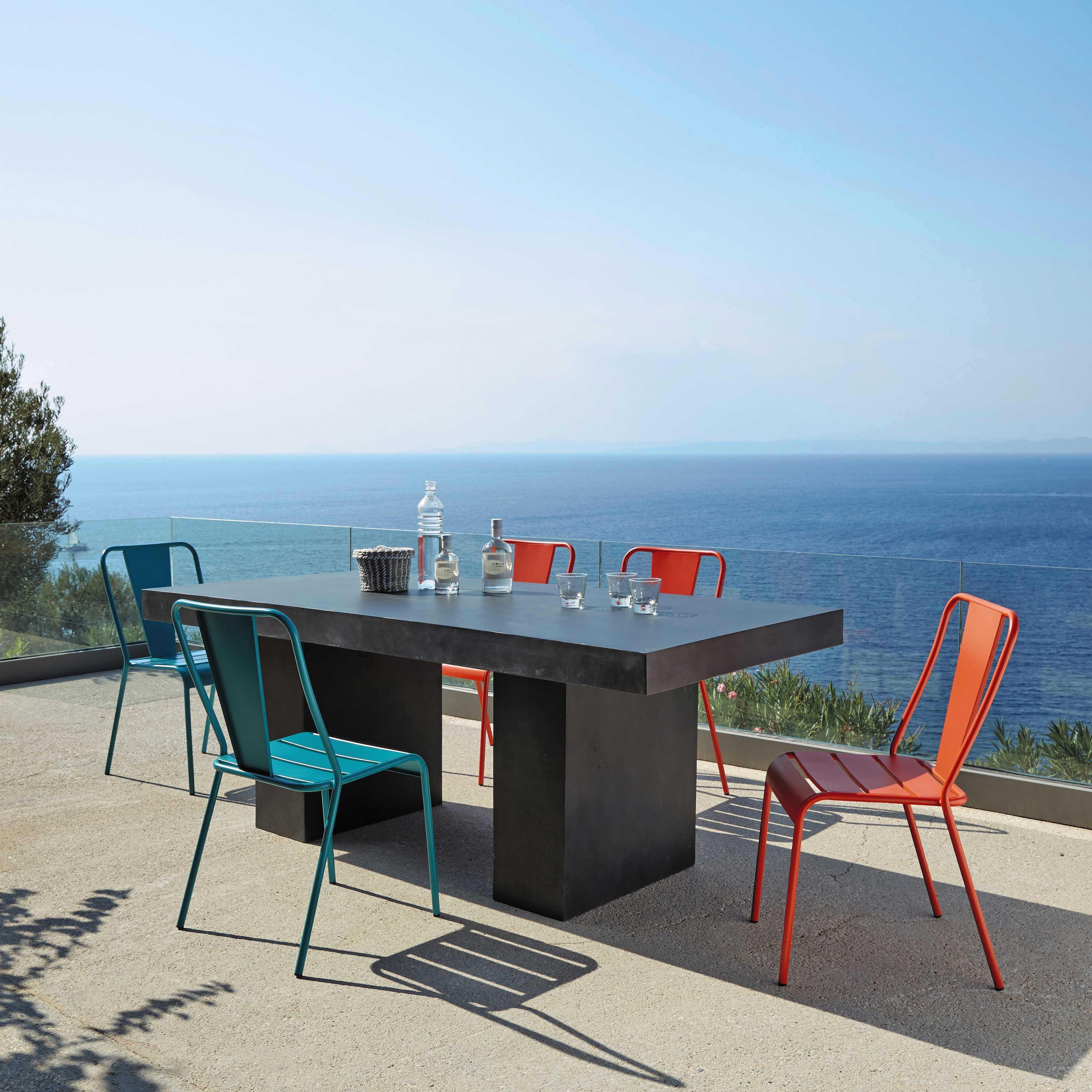 Chaise de jardin en métal bleue Harry\'s   Maisons du Monde 39 ...