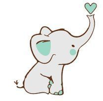 Image result for baby elephant drawing simple CUTE ANIMAL