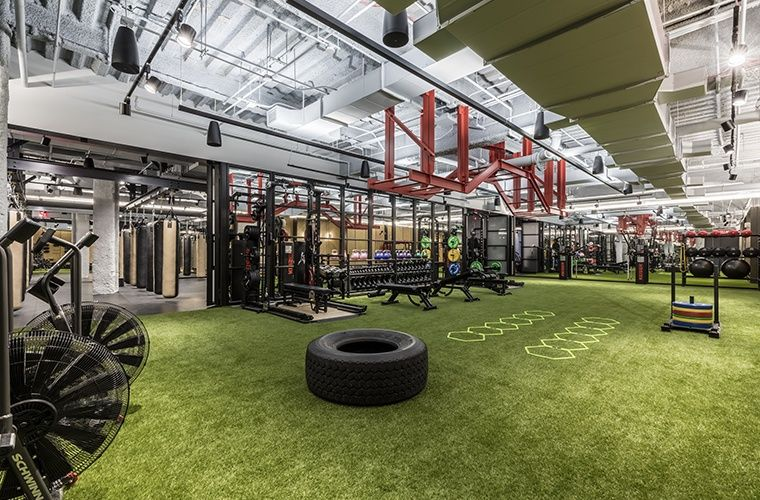 WeWork opens first wellness club in NYC Gym interior