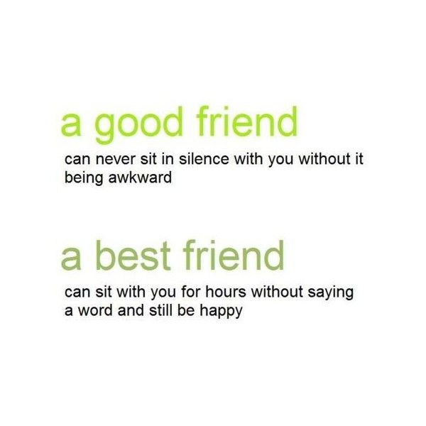 good friends vs. best friends