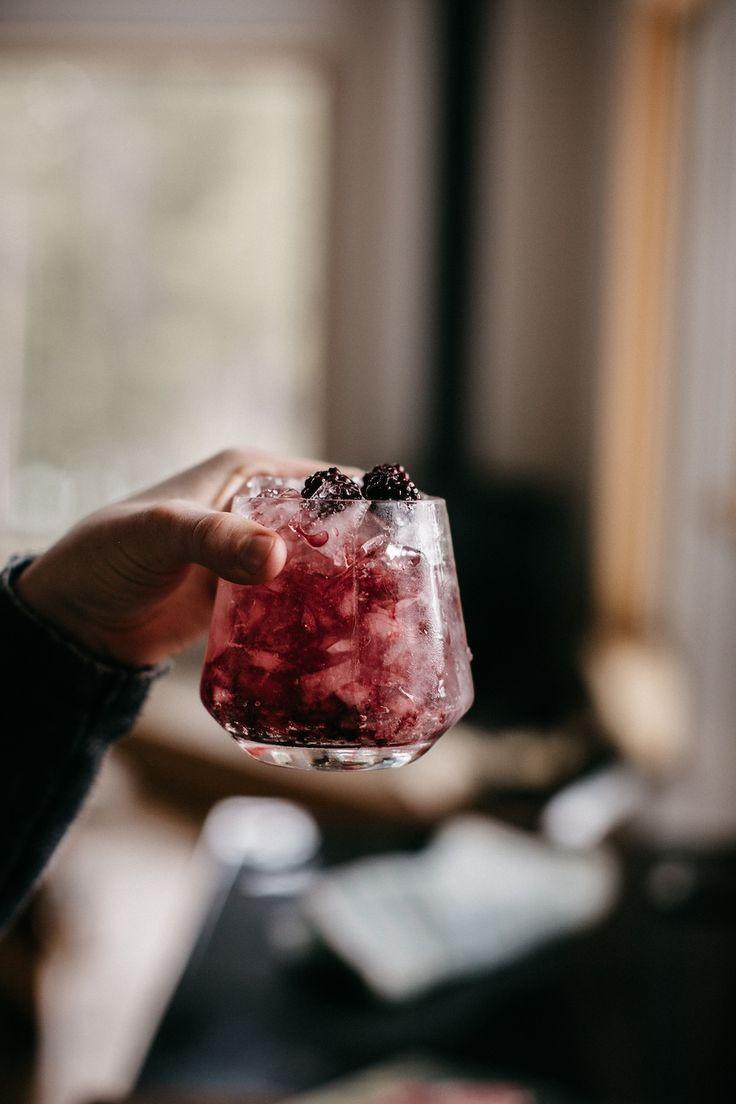 blackberry bramble cocktail.