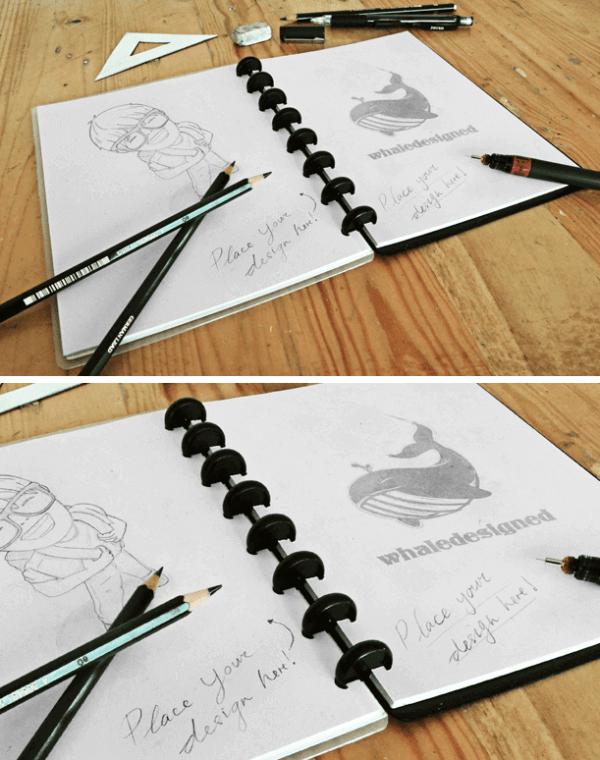 Sketch Book Mockup PSD | Mockups | Mockup, Sketches, Design