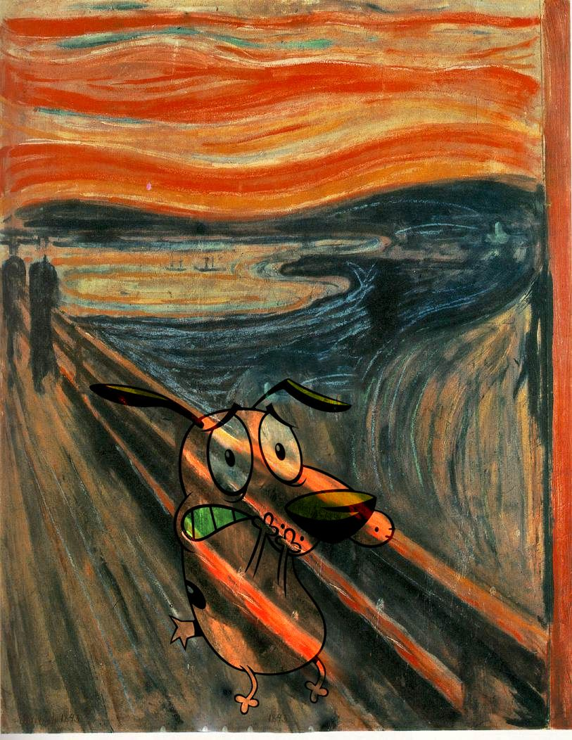 Courage The Cowardly Screaming Dog Just Because Edvard Munch
