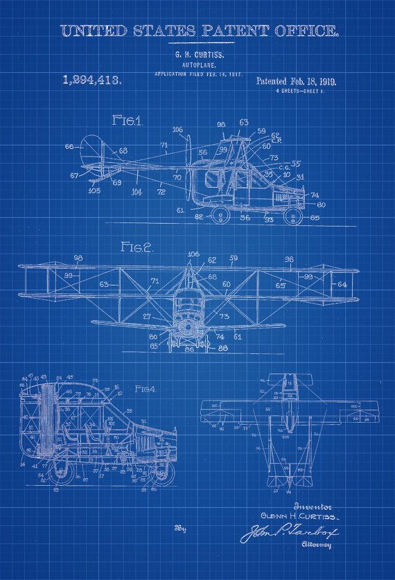 Flying car patent vintage airplane airplane blueprint airplane flying car patent vintage airplane airplane by patentsasprints malvernweather Images