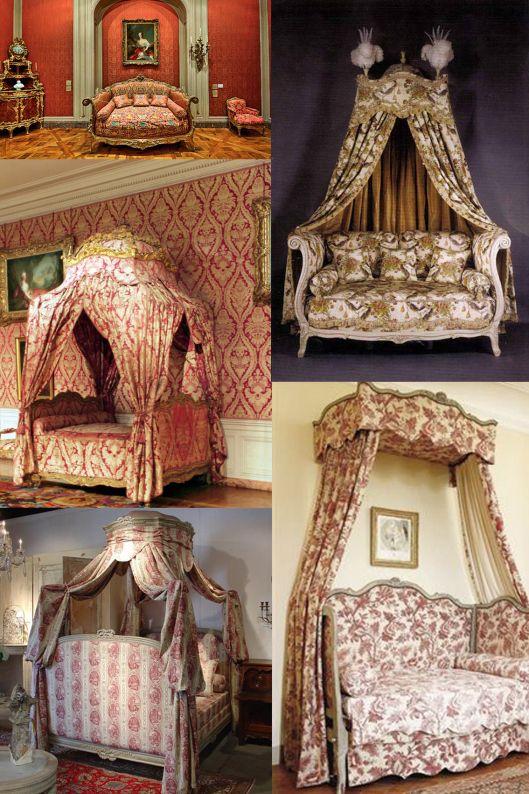 De arriba abajo y de izquierda a derecha cama a la turca for Cama luis xv
