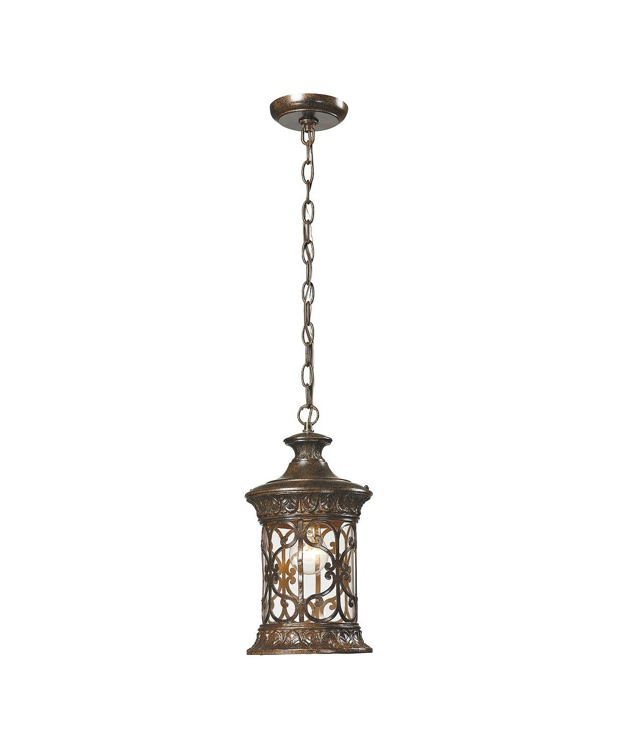 Elk Lighting Orlean Collection 1 Light Outdoor Pendant In