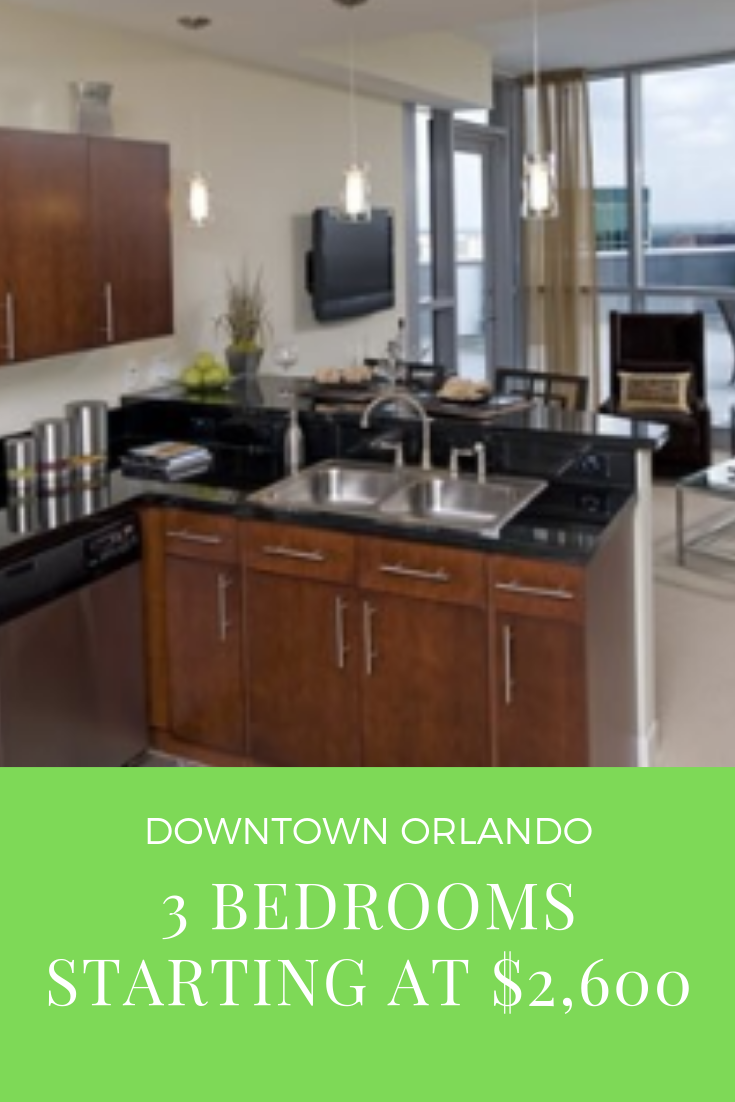 Luxury apartments Downtown Orlando. 1/2 off 3 bedroom