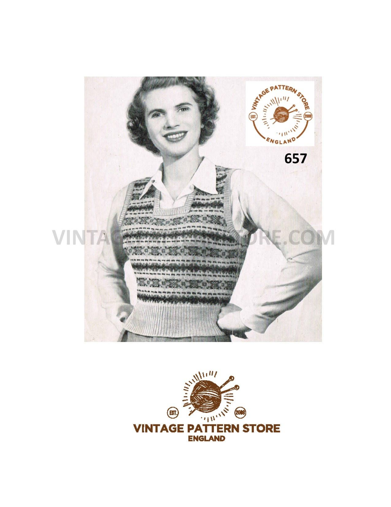 d8cf570befd5d4 Ladies 1940s fair isle