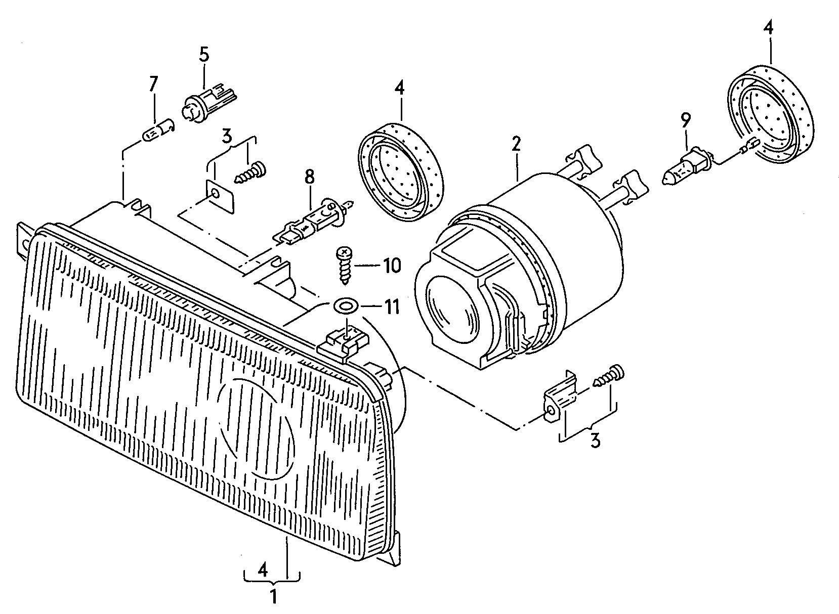 Volkswagen Bulb Holder Cart Part Info