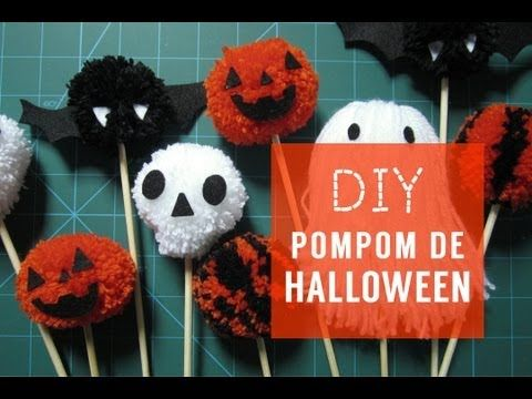 ✂ DIY Pompom de Halloween - YouTube  Creative ideas  Pinterest