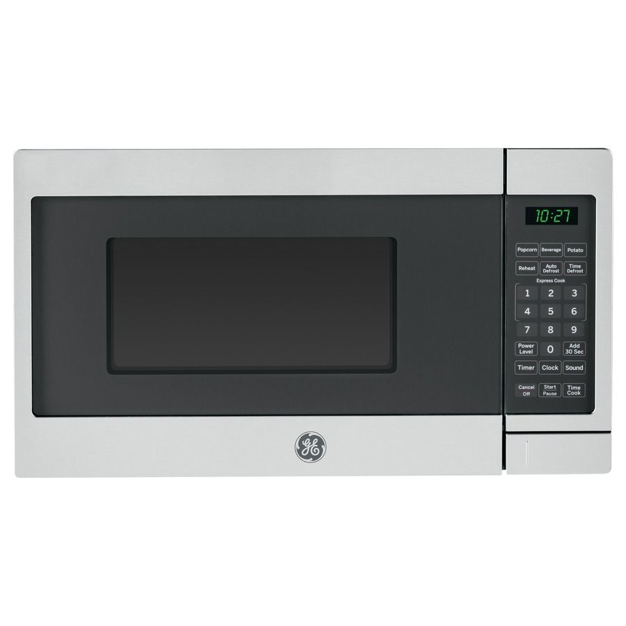 Ge 0 7 Cu Ft 700 Watt Countertop Microwave Stainless Steel 103 Height Inches 10 With Images Countertop Microwave Oven Countertop Microwave Stainless Steel Microwave
