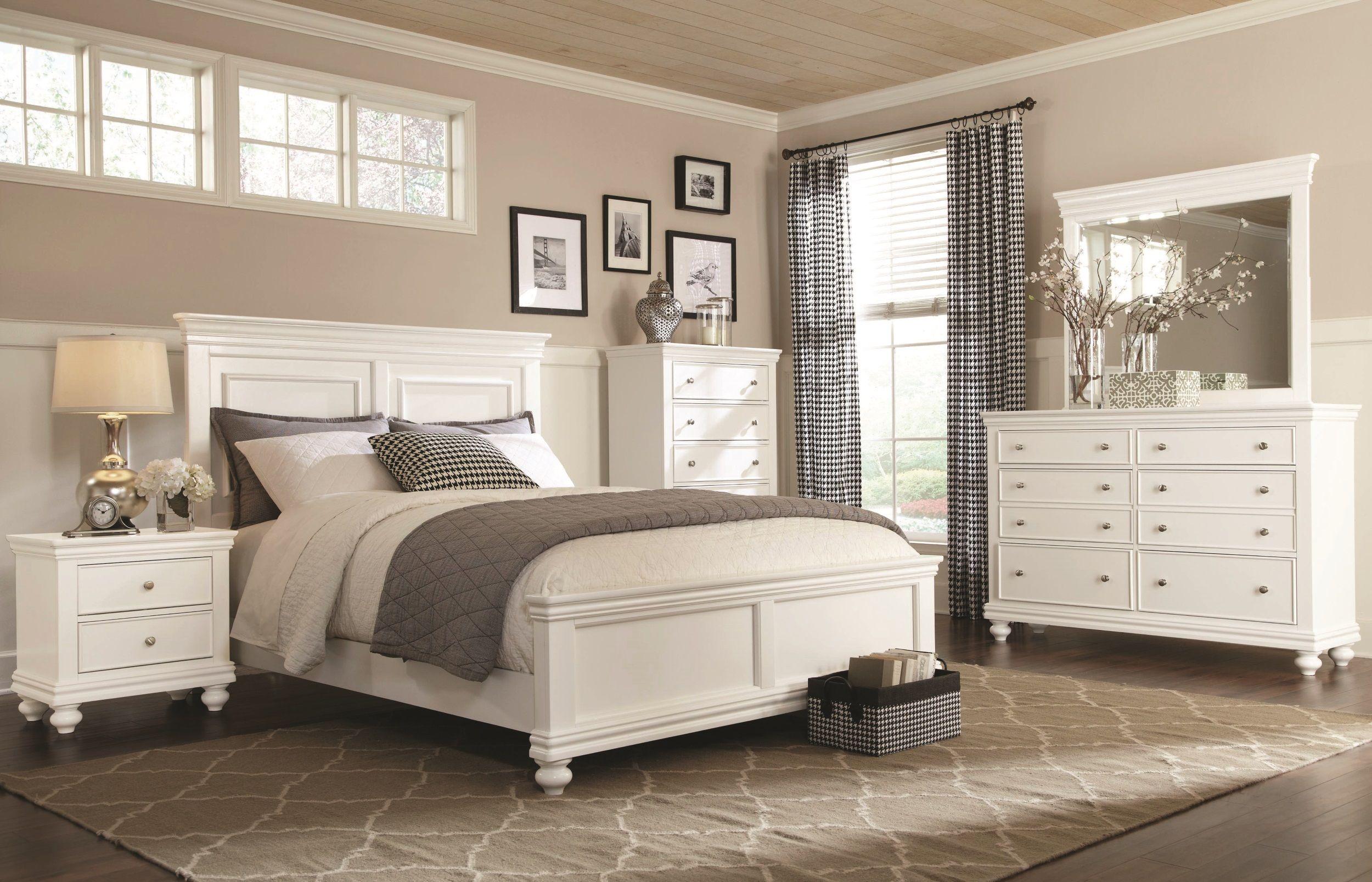 White 4 Piece Queen Bedroom Set - Essex | White bedroom ...