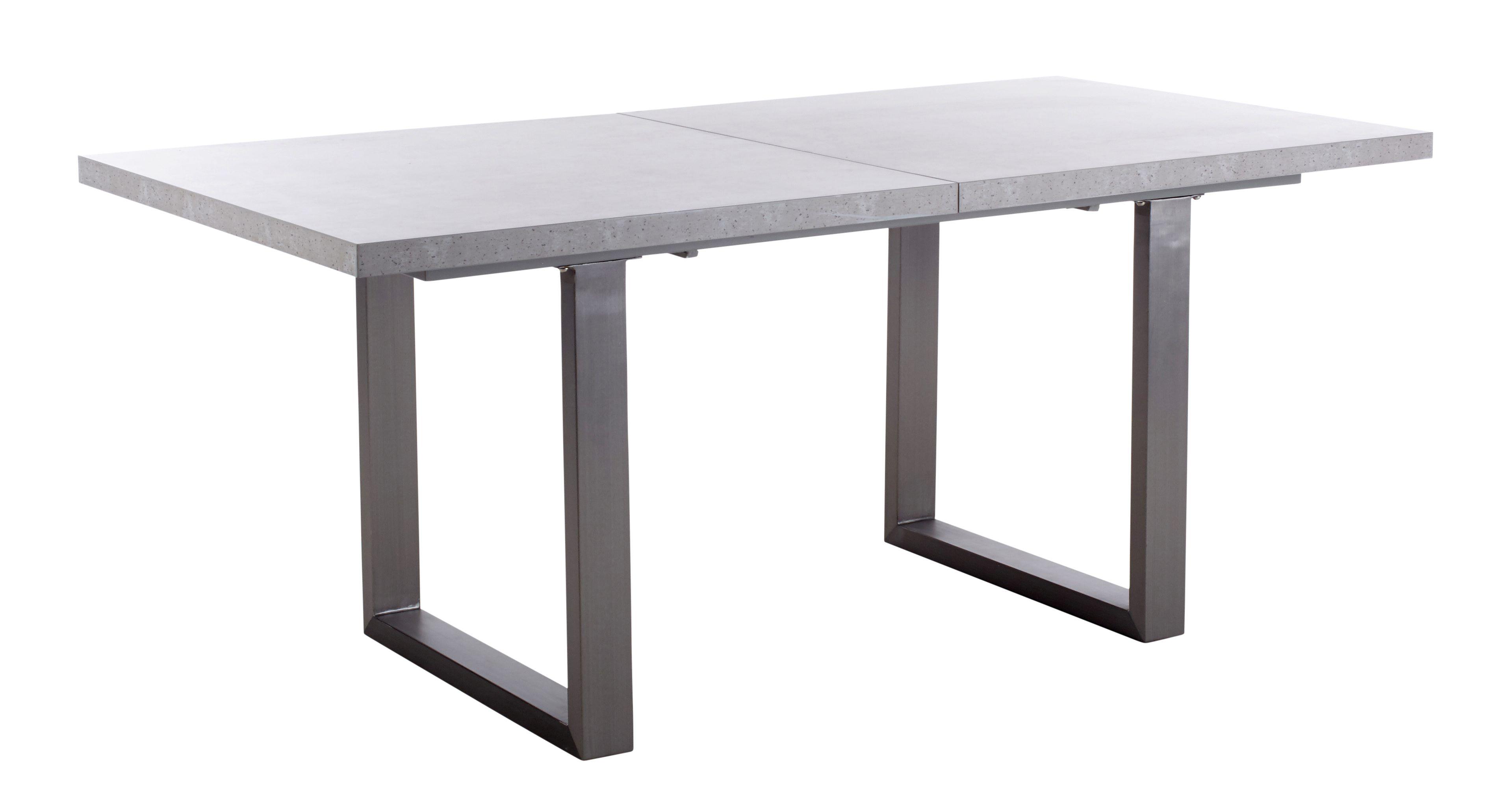 Table rectangle avec allonges CONNOR Gris