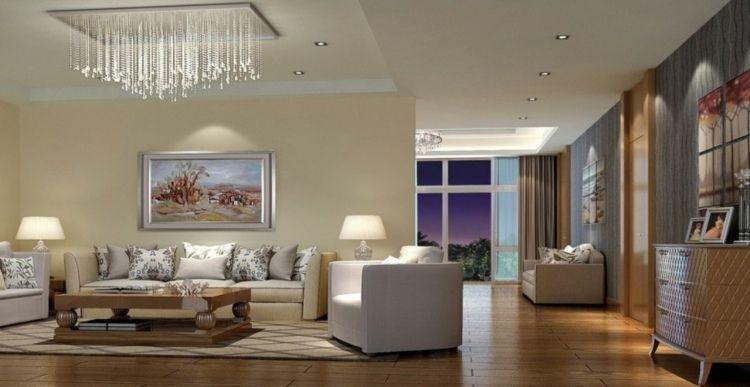 Traumhafte Wohnzimmer Beleuchtung Mit Einem Kronleuchter Mit