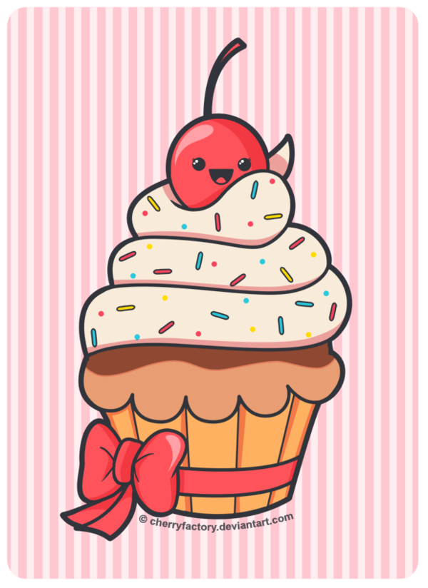 Cake Images For Birthday Drawing : Cute Cupcake by CherryFactory.deviantart.com Cupcake