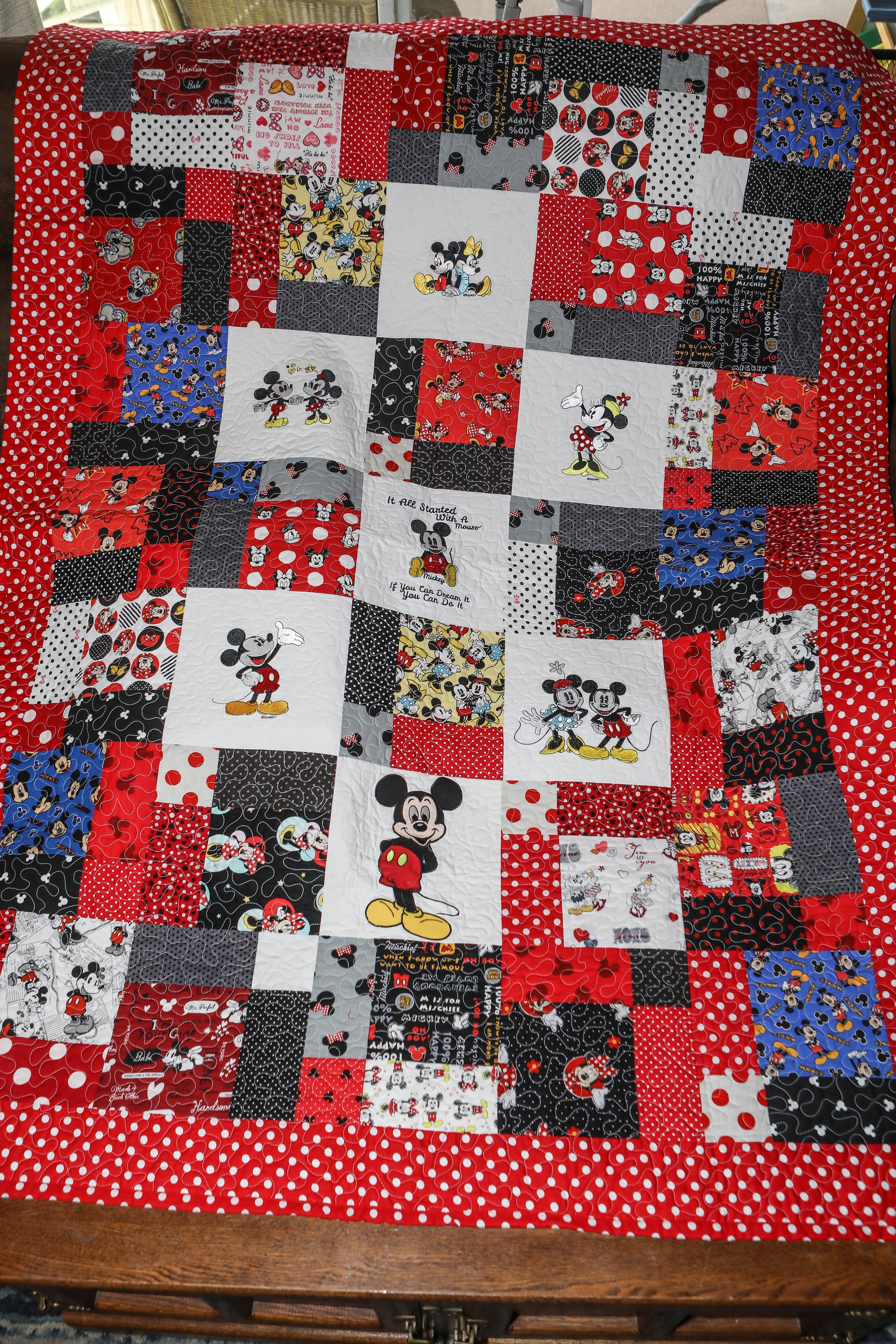 This Disney Mickey Mouse Quilt Is For Sale On Etsy In My