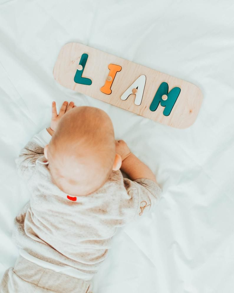 Baby boy name puzzle 1st birthday gift personalized
