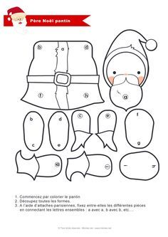 fabriquer un pantin p re no l noel. Black Bedroom Furniture Sets. Home Design Ideas